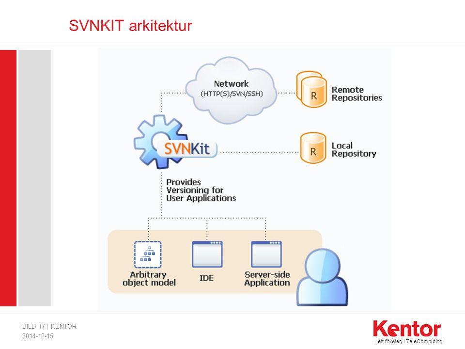 - ett företag i TeleComputing SVNKIT arkitektur 2014-12-15 BILD 17 | KENTOR