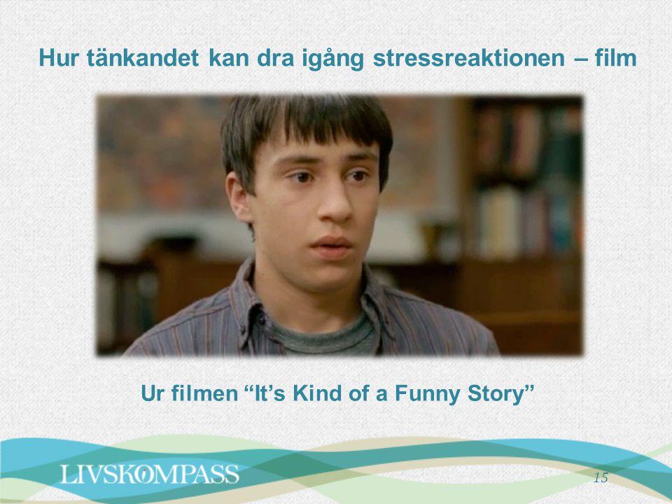 """Hur tänkandet kan dra igång stressreaktionen – film 15 Ur filmen """"It's Kind of a Funny Story"""""""