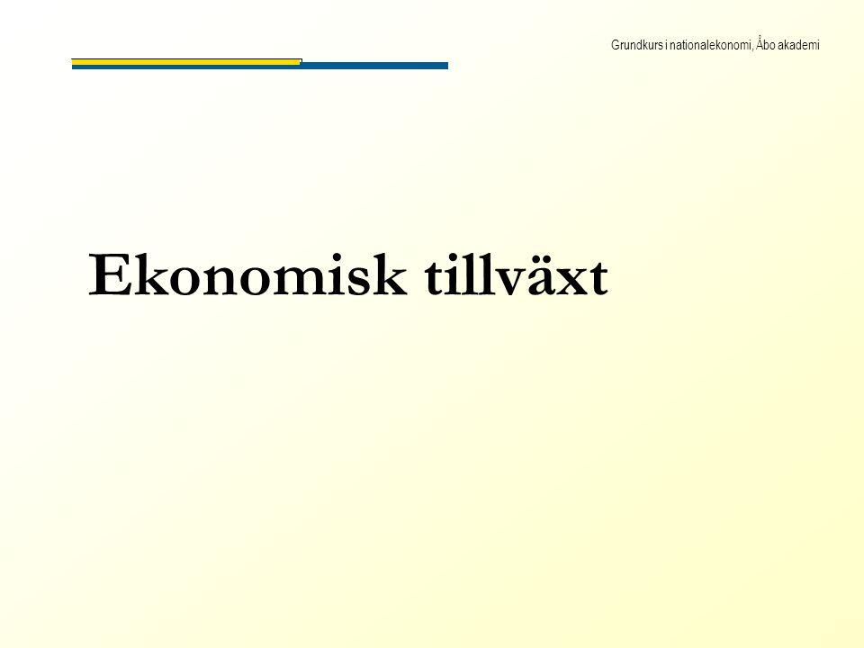 Grundkurs i nationalekonomi, Åbo akademi Ekonomisk tillväxt