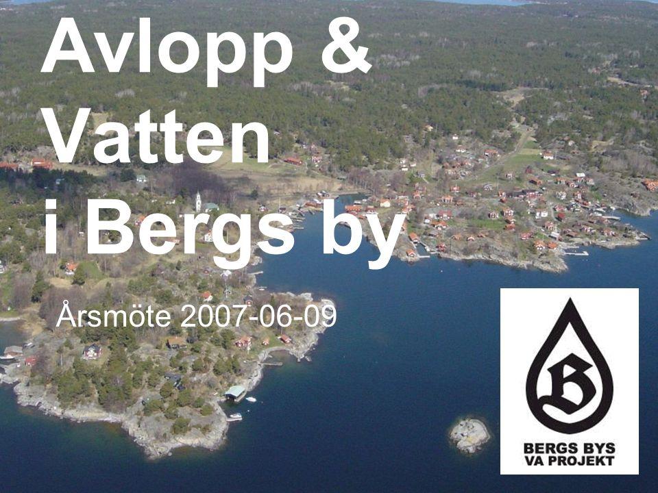 Avlopp & Vatten i Bergs by Årsmöte 2007-06-09