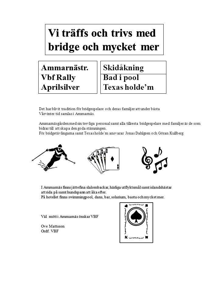 Program Onsdag Samling med dryck och macka.