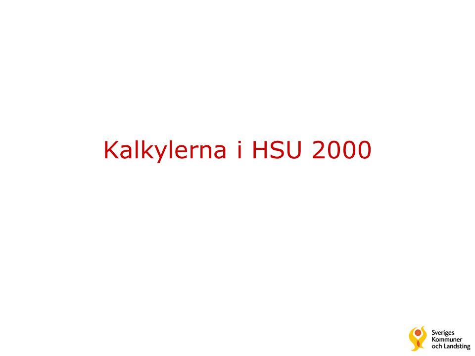 Kalkylerna i HSU 2000