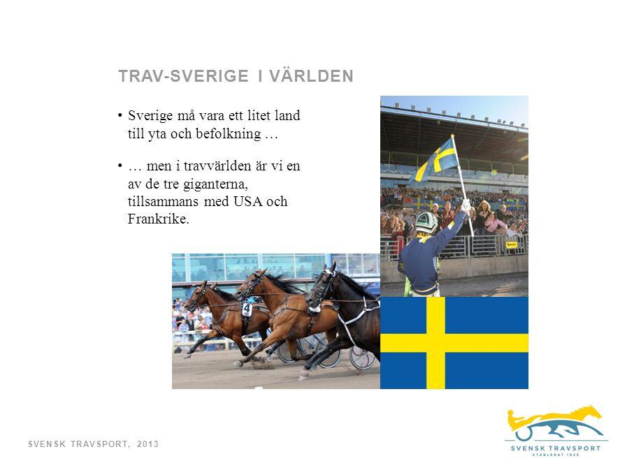Sverige må vara ett litet land till yta och befolkning … … men i travvärlden är vi en av de tre giganterna, tillsammans med USA och Frankrike.