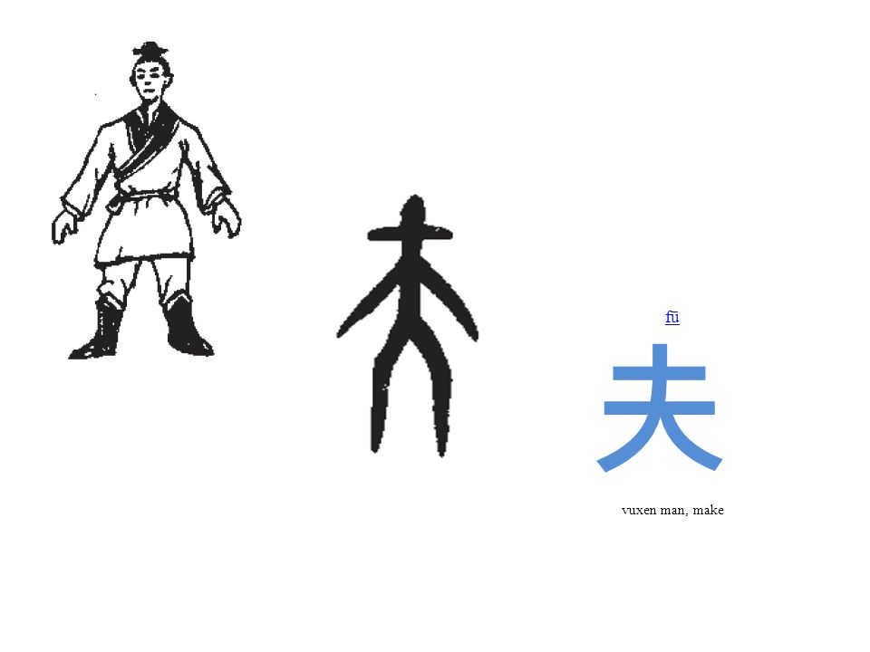 fū 夫 vuxen man, make