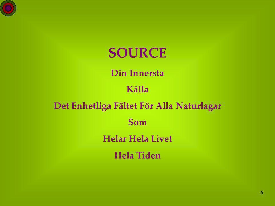 6 SOURCE Din Innersta Källa Det Enhetliga Fältet För Alla Naturlagar Som Helar Hela Livet Hela Tiden