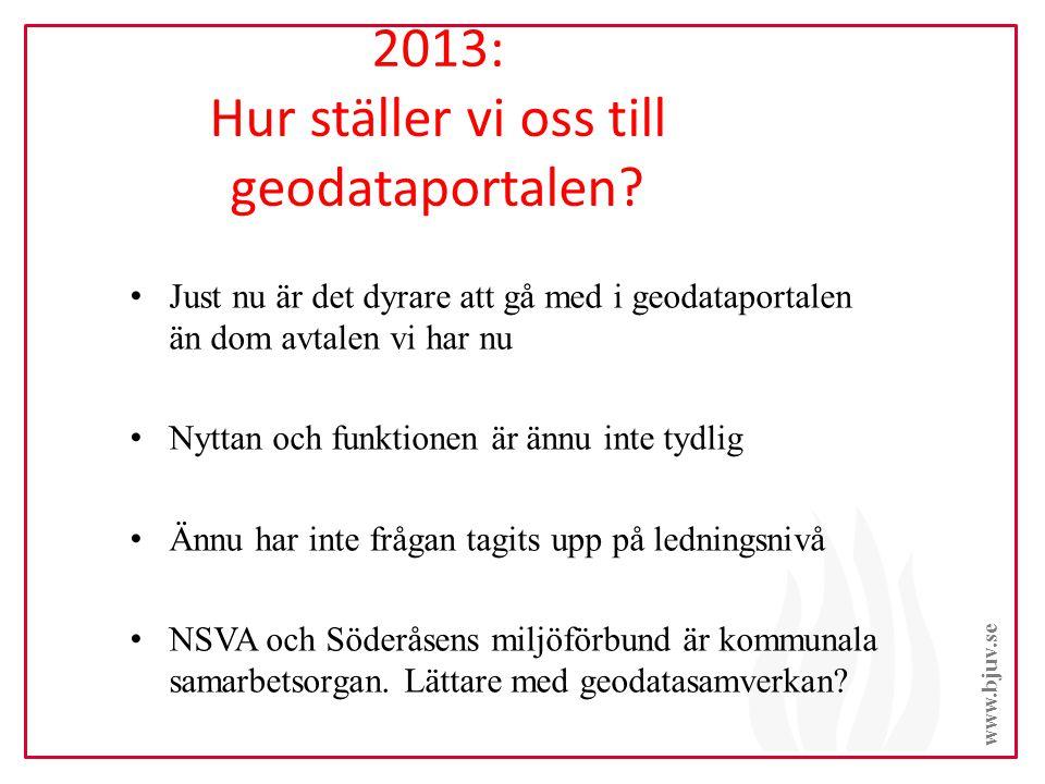 2013: Hur ställer vi oss till geodataportalen.