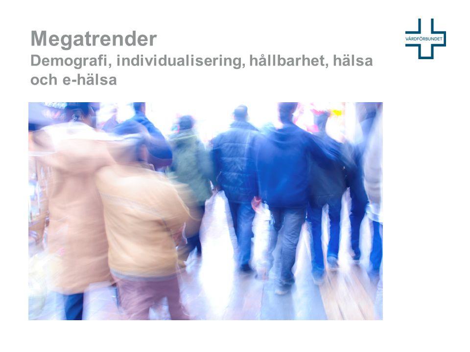 Megatrender Demografi, individualisering, hållbarhet, hälsa och e-hälsa