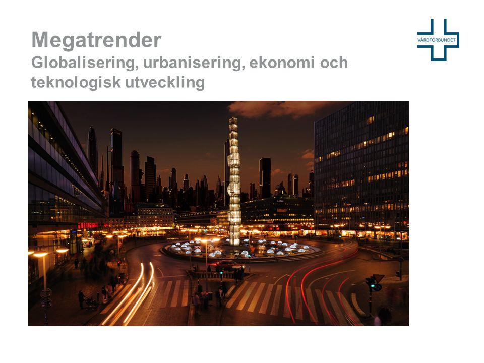 Megatrender Globalisering, urbanisering, ekonomi och teknologisk utveckling