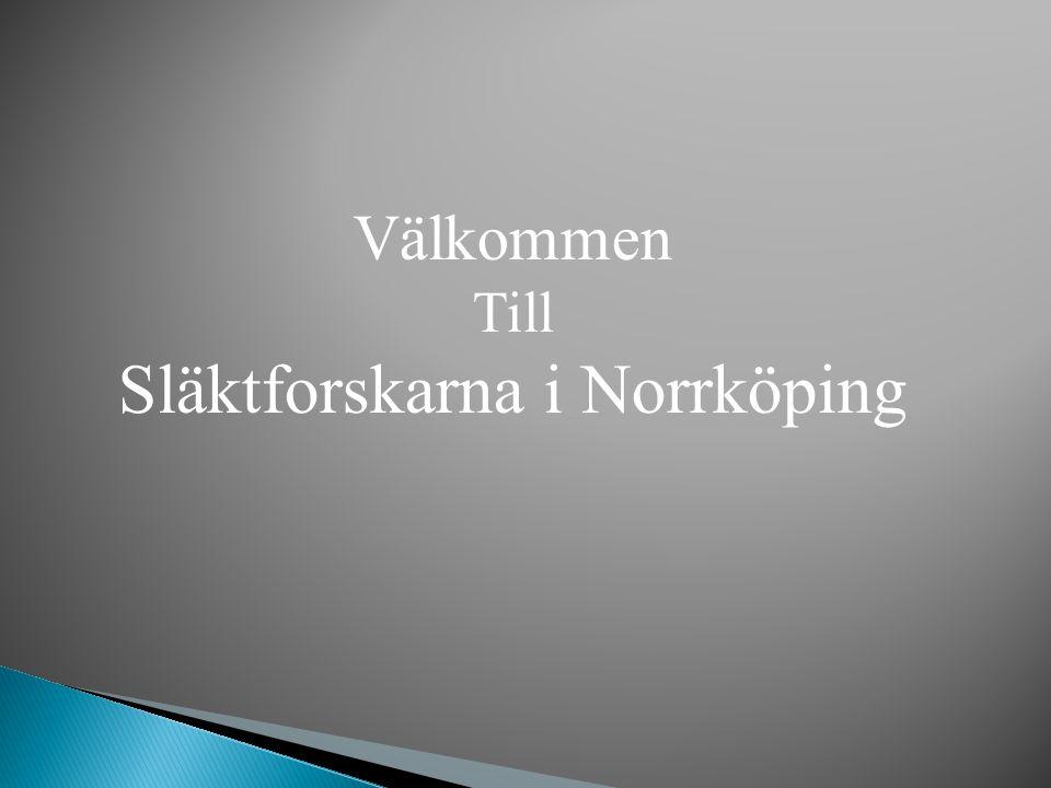 Välkommen Till Släktforskarna i Norrköping