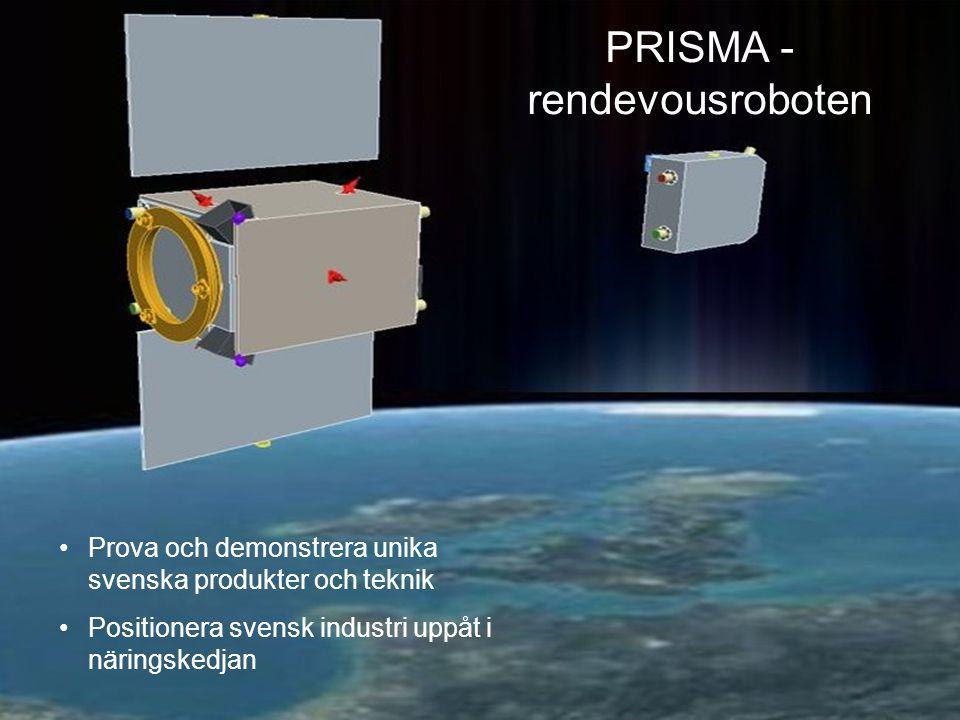 PRISMA - rendevousroboten Prova och demonstrera unika svenska produkter och teknik Positionera svensk industri uppåt i näringskedjan