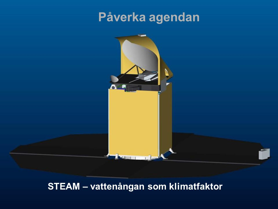 STEAM – vattenångan som klimatfaktor Påverka agendan