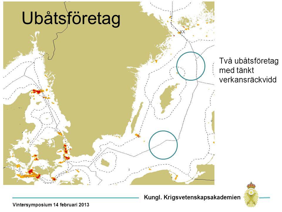 Kor XX Ubåtsföretag Två ubåtsföretag med tänkt verkansräckvidd Kungl.