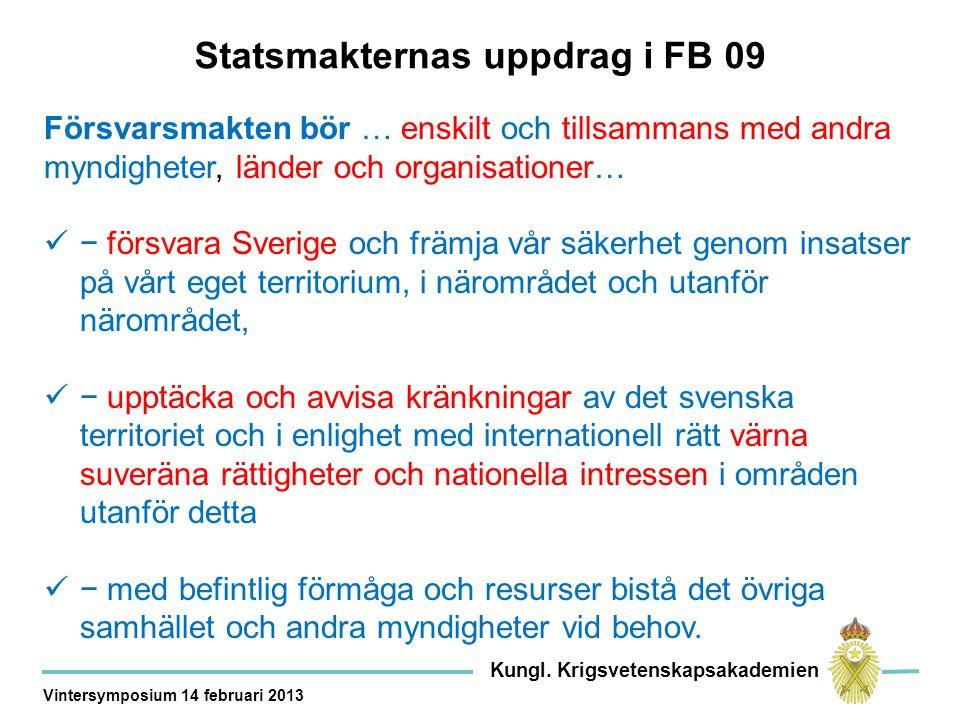 Kor XX Ytstridsföretag 3 korvetter på utgångsläge för att genomföra ytmålsstrid i Gotska sjön.