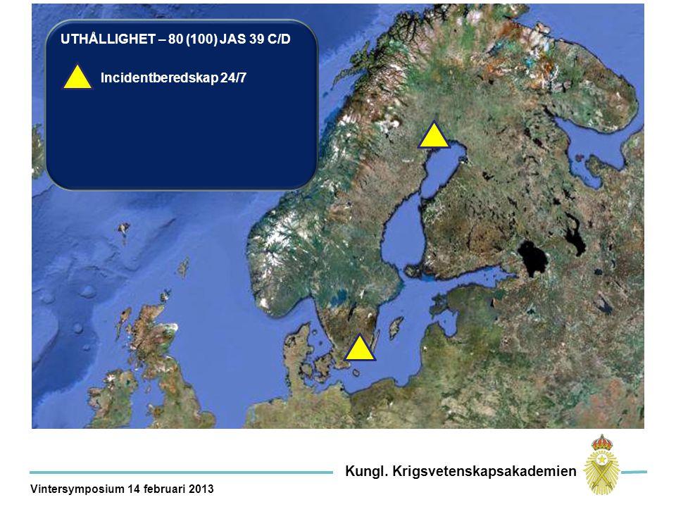 UTHÅLLIGHET – 80 (100) JAS 39 C/D Incidentberedskap 24/7 Kungl.