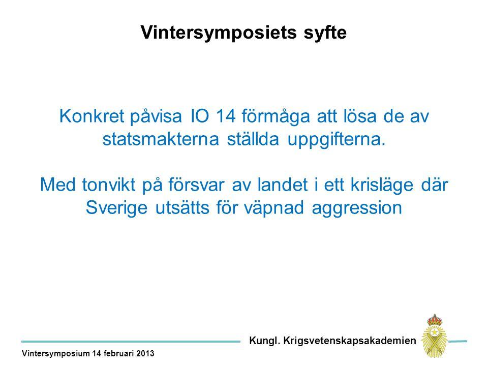 Svensk säkerhet efter 2014 – en summering Kungl.