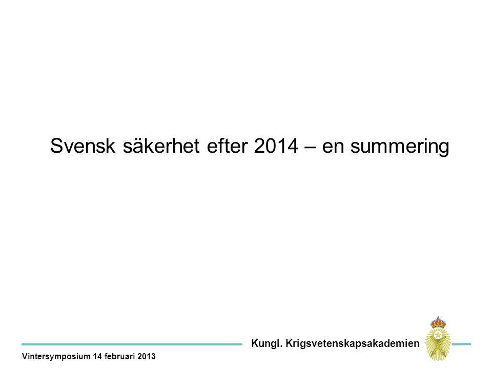 Mobilisering Dagar Samövning & samordning Transport Dagar 65% Kungl.
