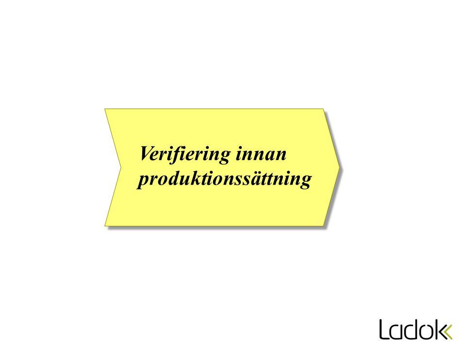 Verifiering innan produktionssättning