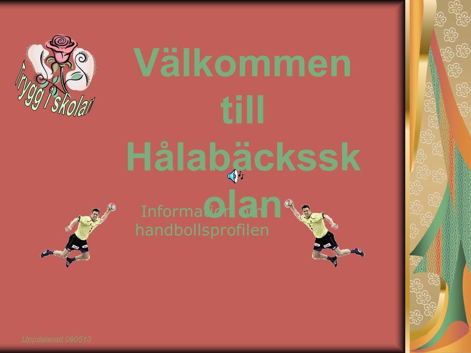Välkommen till Hålabäckssk olan Information om handbollsprofilen Uppdaterad 090513