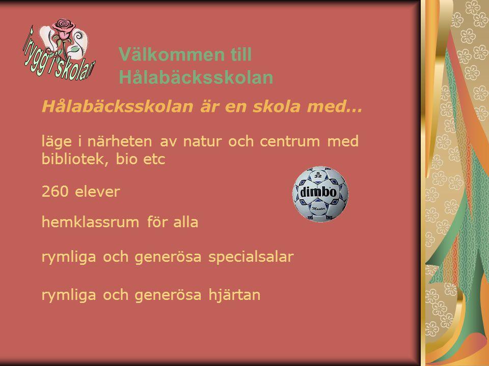 Välkommen till Hålabäcksskolan 260 elever hemklassrum för alla rymliga och generösa specialsalar läge i närheten av natur och centrum med bibliotek, b