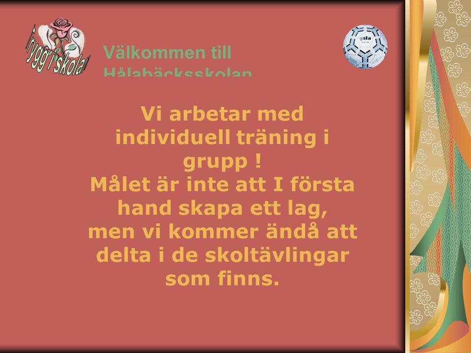 Välkommen till Hålabäcksskolan HANDBOLLSPROFIL PÅ HÅLABÄCKSSKOLAN Mål för handbollsdelen Kamratskap Öppna möjligheter för fortsatt satsning inom handb