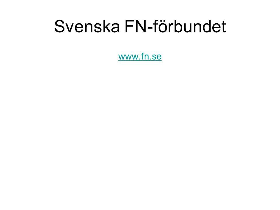 Svenska FN-förbundet www.fn.se