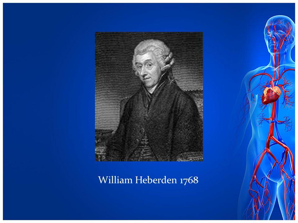 William Heberden 1768