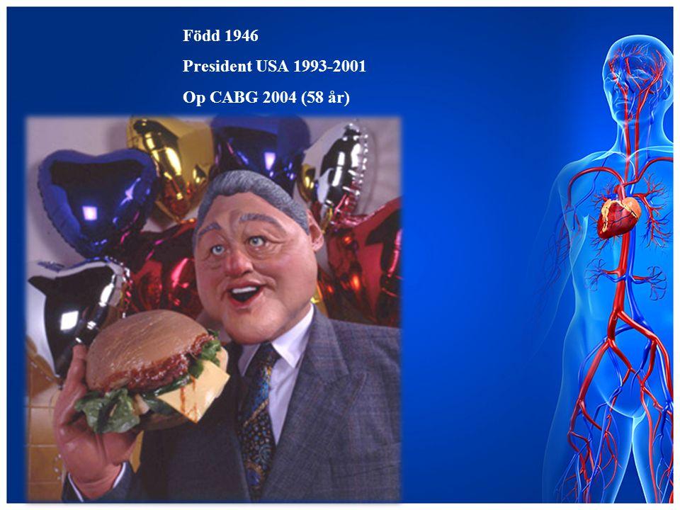 Född 1946 President USA 1993-2001 Op CABG 2004 (58 år)
