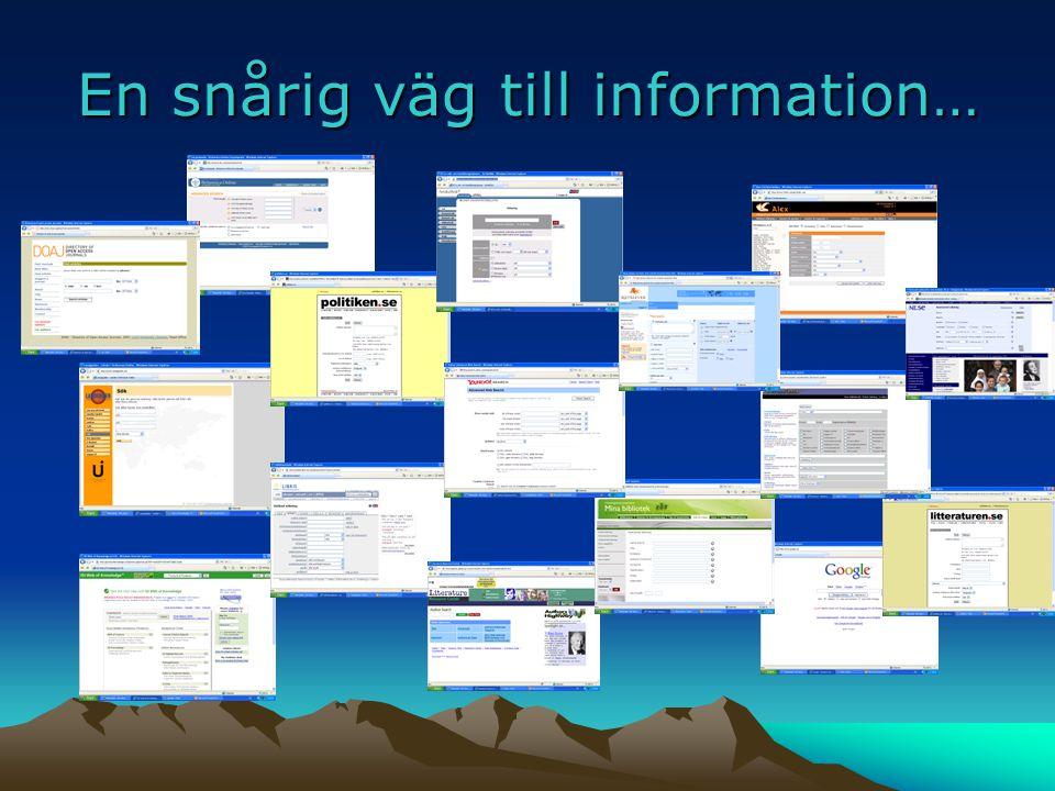 En snårig väg till information…