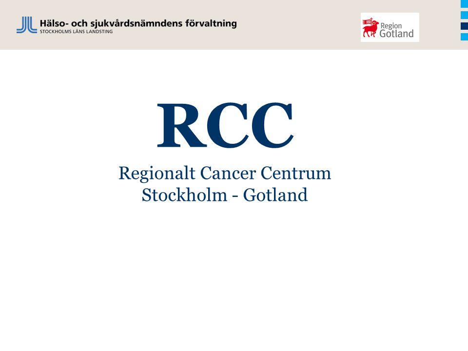 RCC Regionalt Cancer Centrum Stockholm - Gotland