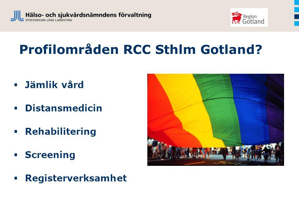 Profilområden RCC Sthlm Gotland.