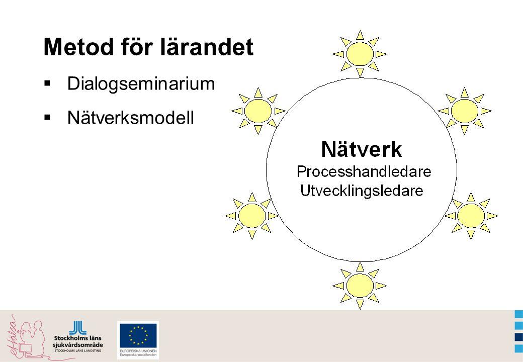 Metod för lärandet  Dialogseminarium  Nätverksmodell