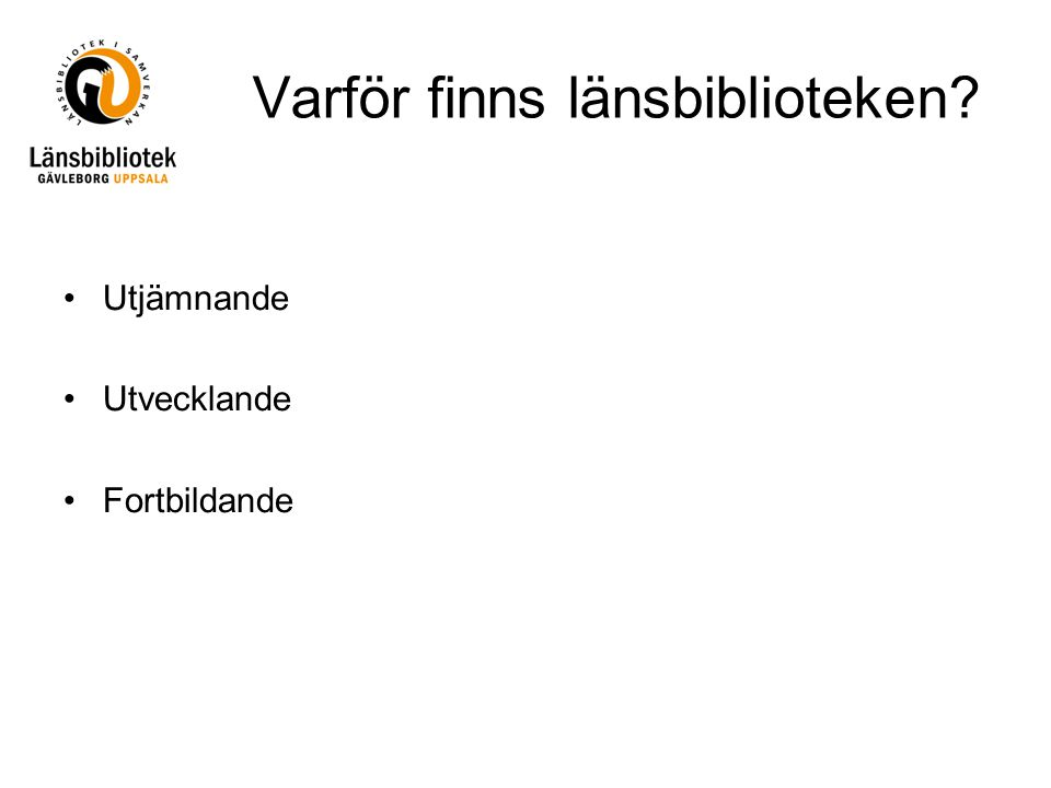 Några nedslag i en vecka på Länsbibliotek Gävleborg Uppsala Lousia stämde av detaljer med gymnasiebibliotekarien i Sandviken inför Tvinningmötet mellan gymnasiebibliotek i Gävleborgs och Uppsala län den 1 november.