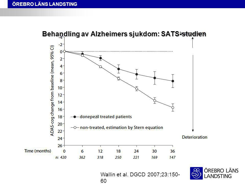 ÖREBRO LÄNS LANDSTING Behandling av Alzheimers sjukdom: SATS-studien Wallin et al.
