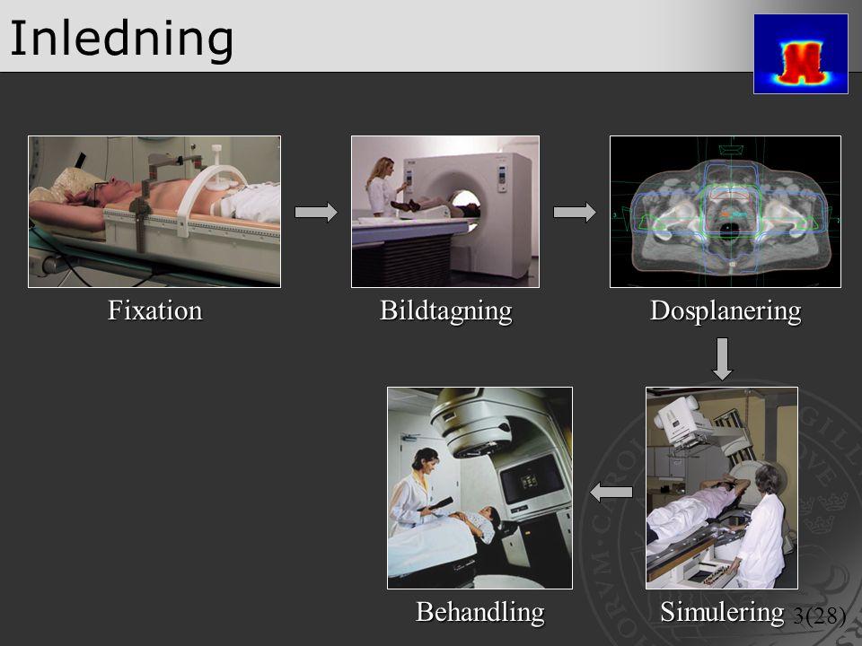 3(28) InledningFixationBildtagning SimuleringBehandling Dosplanering