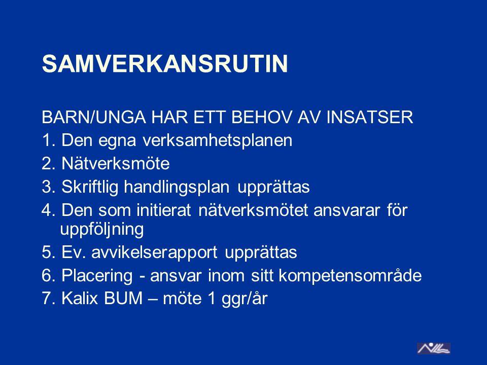 SAMVERKANSRUTIN BARN/UNGA HAR ETT BEHOV AV INSATSER 1.