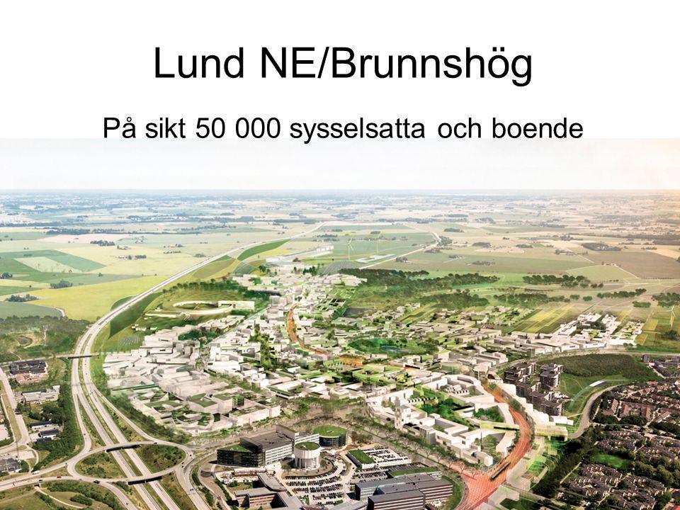 Lund NE/Brunnshög På sikt 50 000 sysselsatta och boende