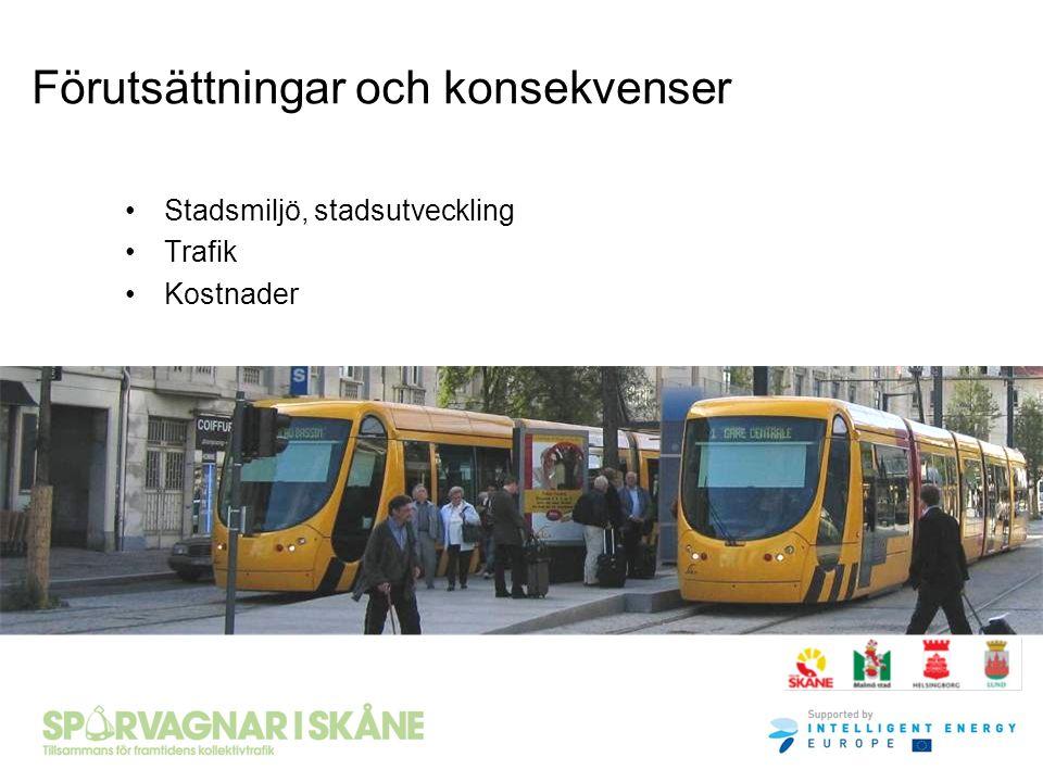 Stadsmiljö, stadsutveckling Trafik Kostnader Förutsättningar och konsekvenser