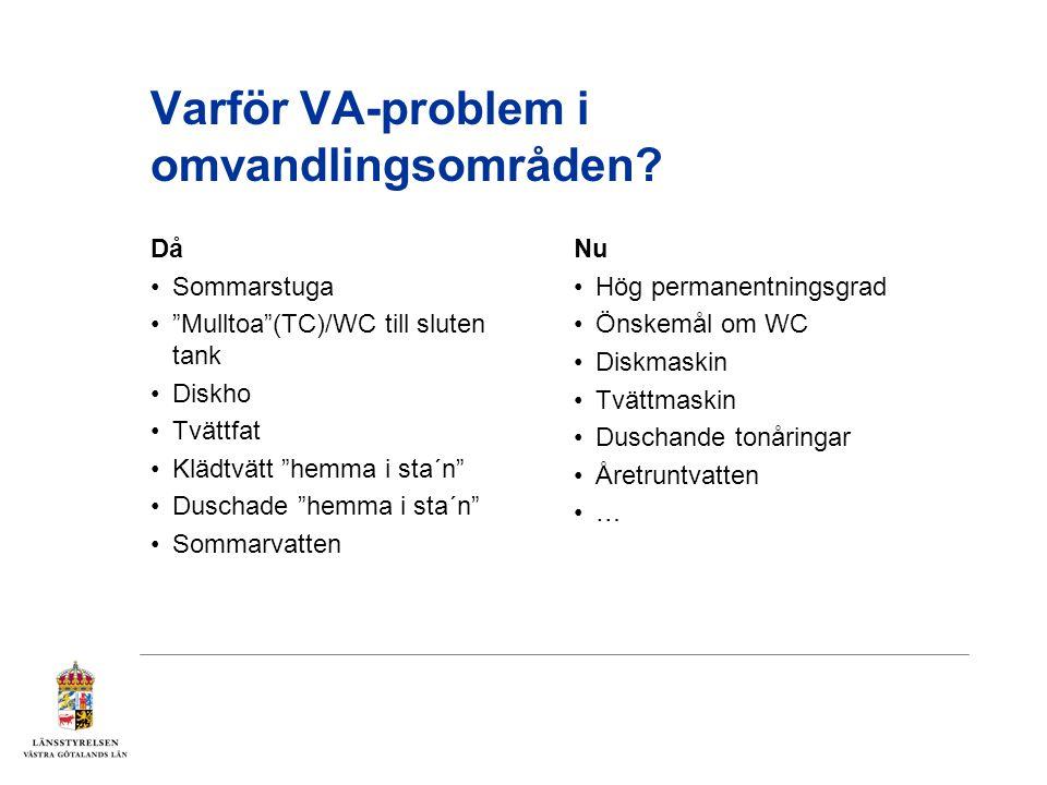 Varför VA-problem i omvandlingsområden.