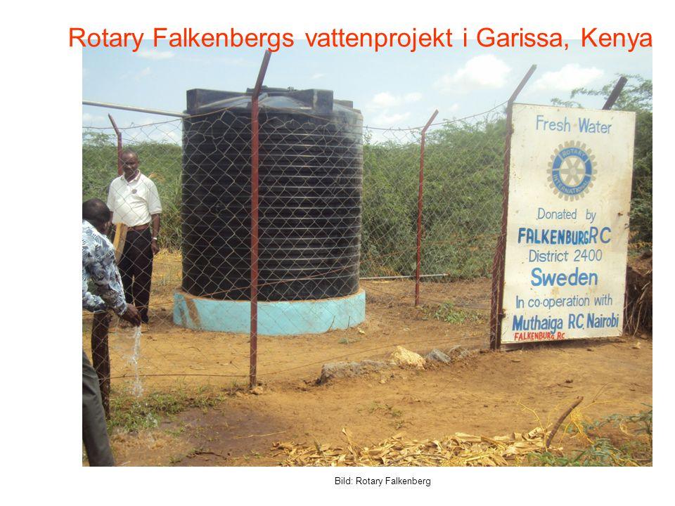 Rotary Falkenbergs vattenprojekt i Garissa, Kenya