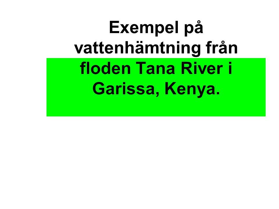 Exempel på vattenhämtning från floden Tana River i Garissa, Kenya.