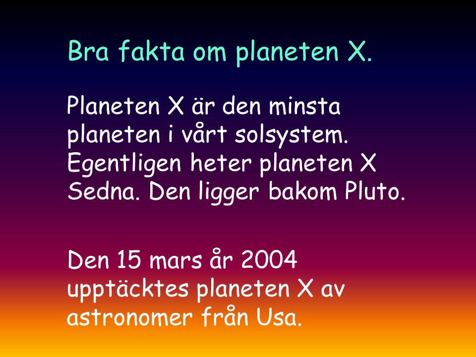 Planeten X är den minsta planeten i vårt solsystem.