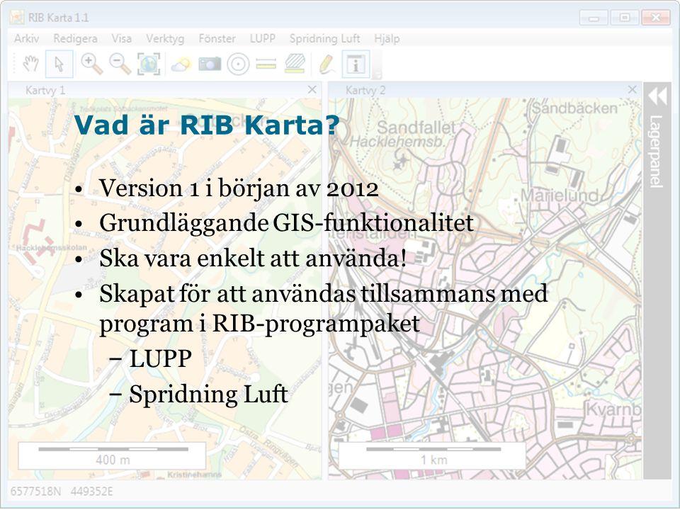Flera RIB-applikationer visar geografisk information på samma karta