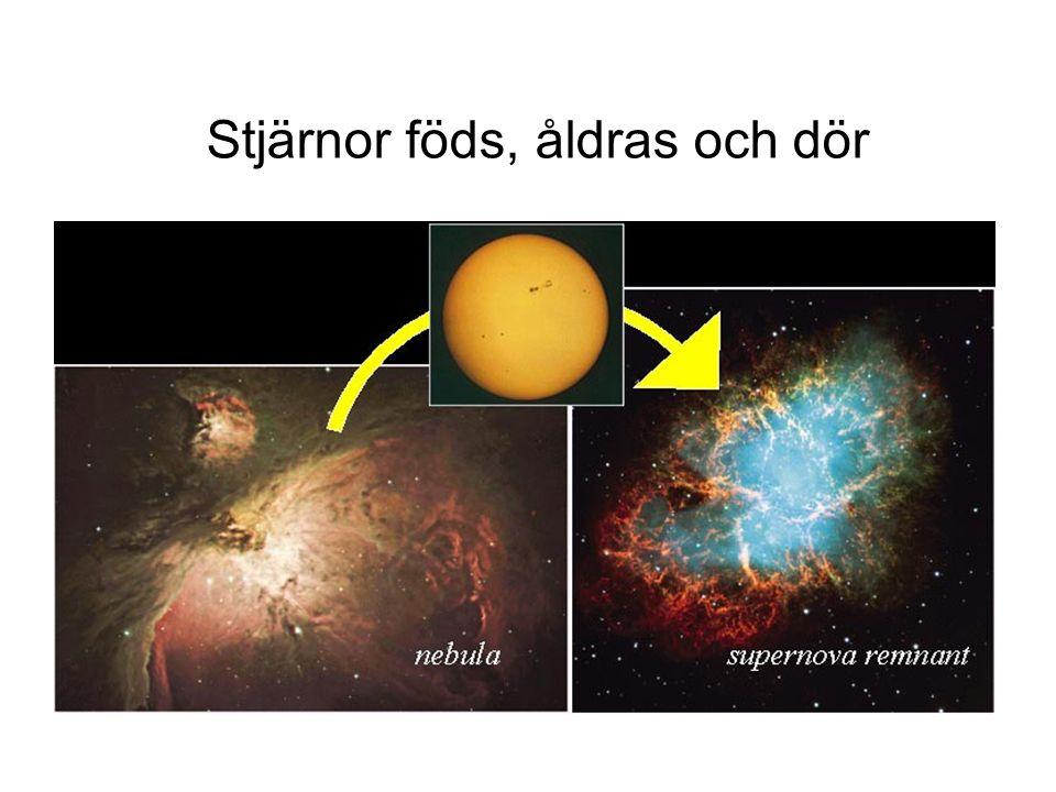 Stjärnor föds, åldras och dör
