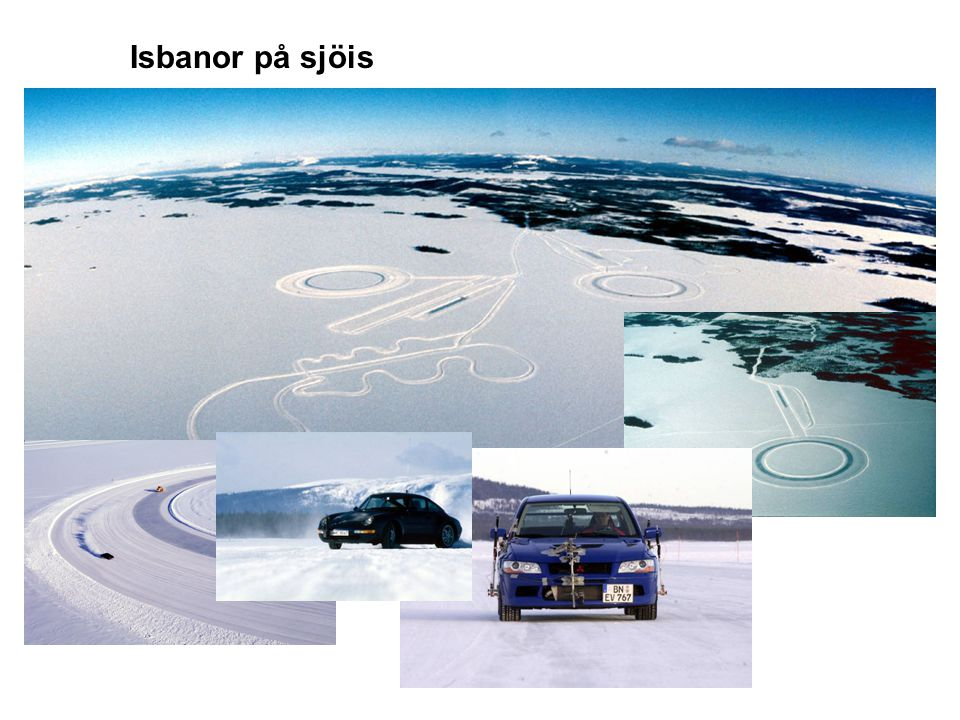 Isbanor på sjöis