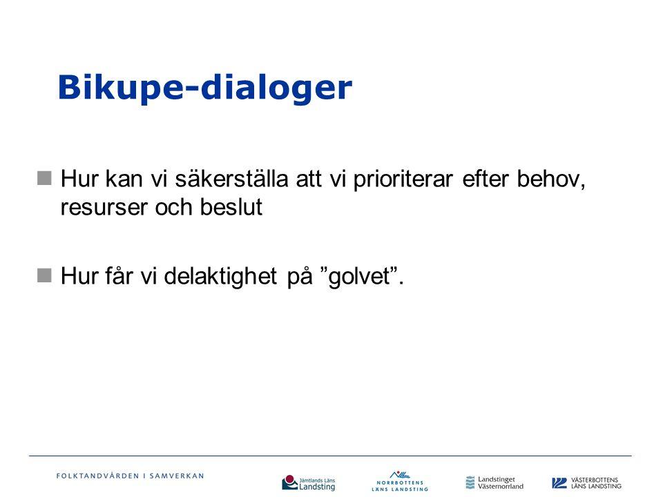 Bikupe-dialoger Hur kan vi säkerställa att vi prioriterar efter behov, resurser och beslut Hur får vi delaktighet på golvet .