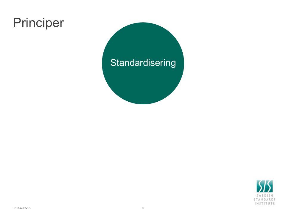 Standardisering av barnartiklar - Teknisk kommitté Barnartiklar  Produkter som underlättar omvårdnaden av små barn 0-4 år  Krav och provningsmetoder, en standard för varje produkt  Fokus på inbyggd säkerhet, även funktion och kvalitet  Varningstexter och användarinformation  Har under lång tid bidragit med kunskap och erfarenheter  Nio europeiska arbetsgrupper där Sverige aktivt påverkar arbetet  Nätverk av företag, myndighet, brukarrepresentant, branschorganisation 2014-12-1517