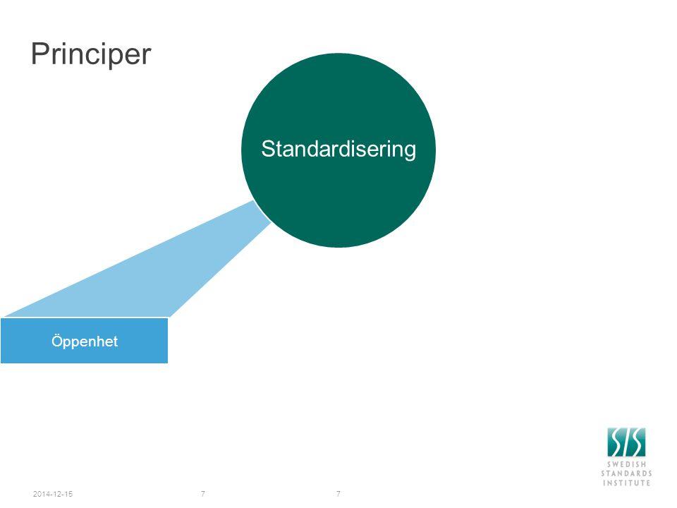 2014-12-157 Principer Öppenhet Standardisering 7