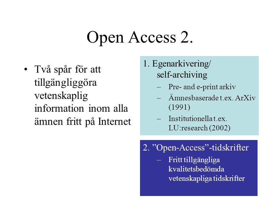 Open Access 2.