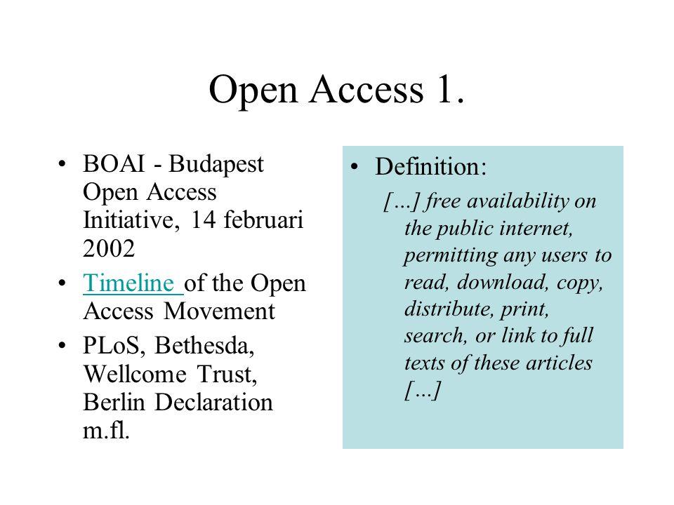 Open Access 1.