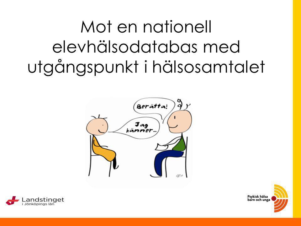 Hälsosamtal och Elevhälsodatabas Mari Littmarck Projektledare SKL Anna Jonsson temaledare skolresultat och psykisk hälsa